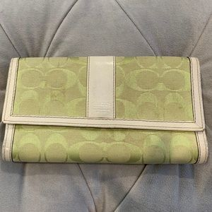 Coach Signature Large Trifold Wallet